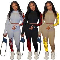 2020 Fashion Print Casual Sports Suit Jogging Suit Women 2 Piece Set Track Suit Outfits Two Piece Set Women Clothing