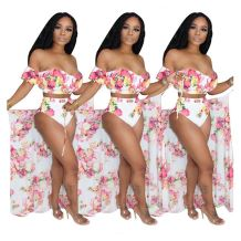 Wholesale Sexy Casual Print Off The Shoulder Sexy 3 Piece Set Women Three Piece Set Women Clothing