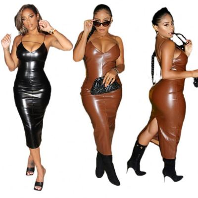 Hot Sale Fashionable Strap Bodycon Club Party Sexy Long Dress 2020 Ladies Dresses Women Clothing Woman Casual Dress