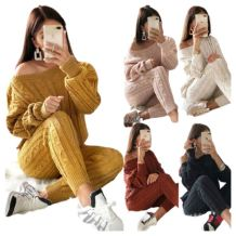 Fall 2020 Women Clothes Long Sleeve Two Piece Set Winter Clothes Two Piece Women Pants Outfit Womens Two Piece Set