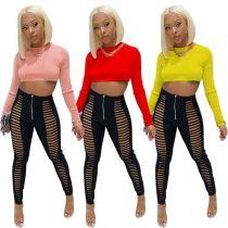 Wholesale Womens Fall Fashion 2020 Long Sleeve Two Piece Set 2 Piece Set Women Clothing Womens Two Piece Set