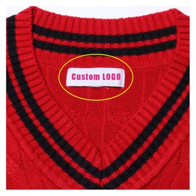 Custom Collar Mark Tags Women Fashion Clothing Collar Mark Tags