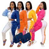 Good Quality New Tie Dye Autumn Winter Long Pants Casual Two Piece Set Women Clothing 2 Piece Set Women