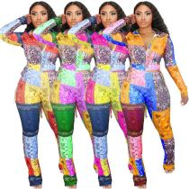 Best Design Fashion Casual Digital Printing Multicolor Fall And Winter 2020 Women Clothes 2 Piece Set Women Clothing