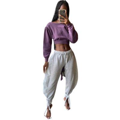 Wholesale Women Fashion Clothing 2021 New Arrivals Women Jogger Pants Ladies Loose Pants Sport Pants Woman