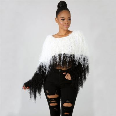 Best Design High Quality Fashion Fall Winter Patchwork Color Ladies Top Women Clothing Women'S Sweaters
