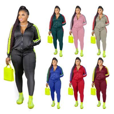 Newest Design Women Clothing Plus Size Sexy Fashion Women 2 Piece Set Clothing 2 Piece Set Women Two Piece Jogger Set