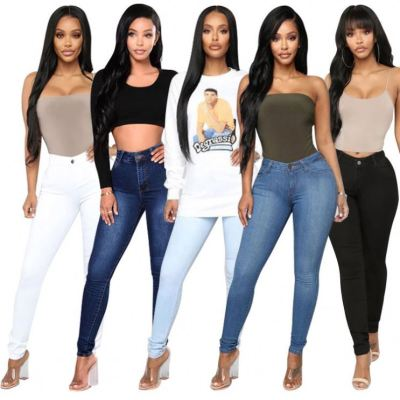 Best Seller Fashion Long Pencil Tight Pants New Casual Clothing Ladies Jeans Trousers Female Women Denim Pants