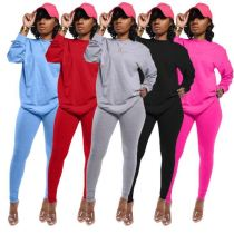 Best Seller Solid Long Sleeves Stretchy Leggings New Ladies Clothes Women 2 Piece Set Clothing Womens Sets