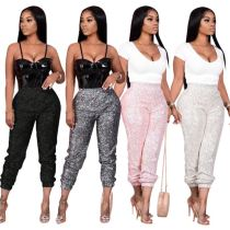 0102507 Hot selling Women Fashion Clothing sequins Women's Trousers pants