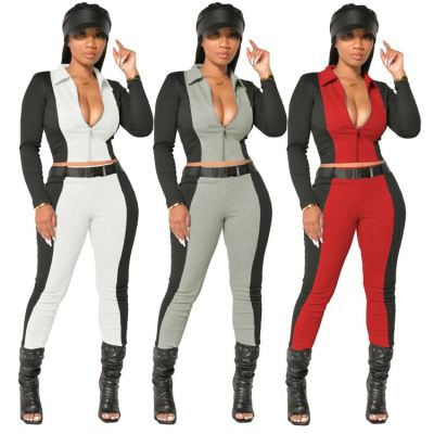 Best Seller Zipper Long Sleeves Sports Wear Tracksuit New Fashion Sets Women Clothing Womens Two Piece Set