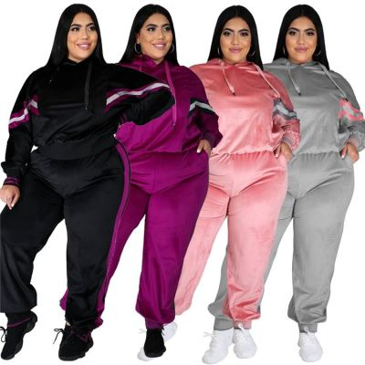 Best Seller Fashion Casual Womens Winter Clothing 2020 Plus Size Sports Suit Womens Two Piece Set 2 Piece Sets