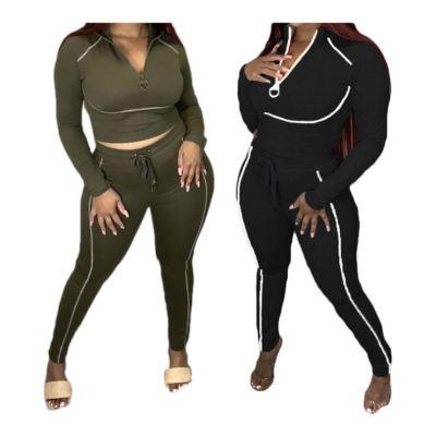 Wholesale New Arrival Fashion Casual Autumn Top And Pants 2 Piece Set Women Two Piece Set Women Clothing