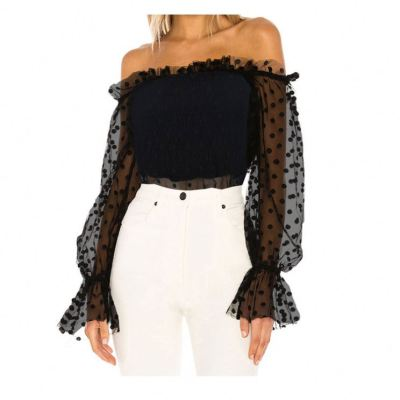 Good Quality Off Shoulder Mesh Crop Top Sexy Girls Clothing Woman Tops Women Top Ladies Tops Latest Design