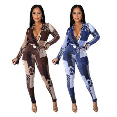 Wholesale Price New Inventory sexy V Neck Female Fashion 2 Piece Set Women Two Piece Set Women Clothing
