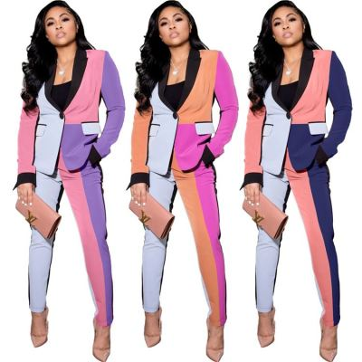 Good Quality Best Seller Women Fashion Clothing 2020 Women Casual Elegance Patch work Sets Two Piece Woman Suit