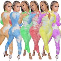 Hot Onsale Colorful Knit Material Female Clothing Women One Piece Jumpsuits And Rompers Bodycon Jumpsuit