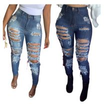High Quality Womens Clothing Latest Design 2020 Leggings For Women Jeans Trousers Women Ripped Jeans Lady