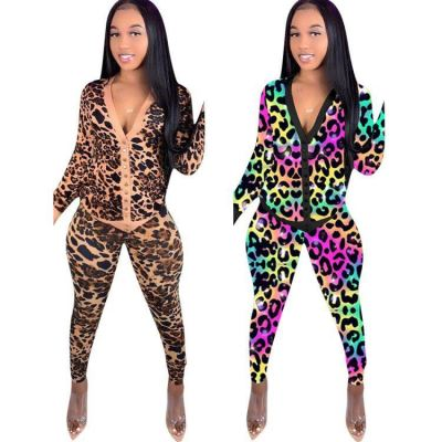 New Arrival Fashionable Casual Womens Winter Clothing 2020 Ladies Sexy Print Two Piece Set Women Clothing