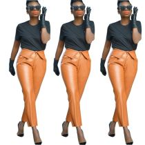 Hot Onsale Women Clothing Casual New Style Leather Pants For Women Trousers For Ladies Women'S Trousers