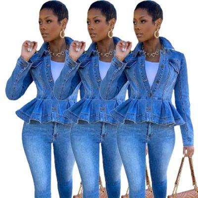 Hot Sale 2020 Women Clothing Women Jeans Jacket Long Sleeve Casual Outwear Coat Jean Jackets For Ladies