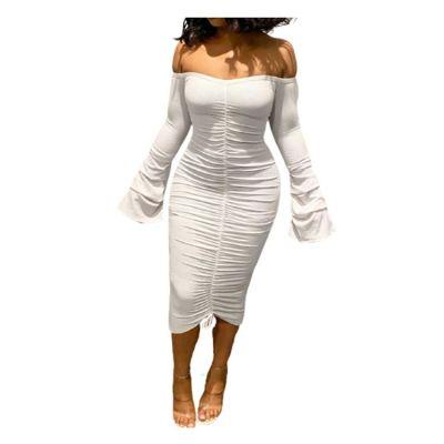 Fashionable Wholesale Women Clothing Winter Solid Color Women Clothing Dress Dresses Women Elegant Dresses