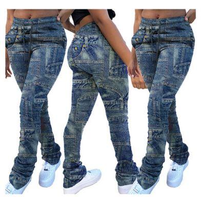 Fashion New Collections Casual Cool Denim Long Pants Jeans Ladies Pants Women'S Trousers Women Bottoms Pants