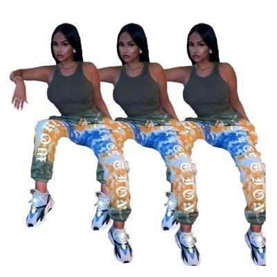 Newest Design Women Jogger Pants Casual Letter Printed Women Bottom Pants Ladys Trousers  Women Jogger Pants