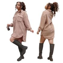 New Design High Quality Fashion Casual Dress 2020 Winter Long Sleeve Dress Women Top Dresses For Lady