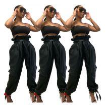 Newest Design Leather Belt Cool Female Clothes New Ladies Long Pants Women'S Trousers Women Bottoms Pants