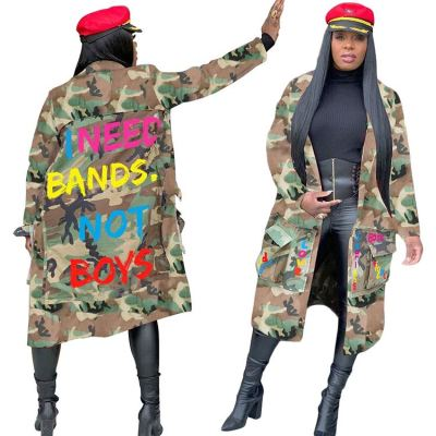 Wholesale Best Seller 2020 Women Fashion Trend Clothes Camouflage Print Winter Jacket For Women Lady Top Coats