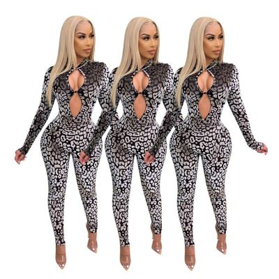 2020 Latest Design Spot Print Long Sexy Women Fashion One Piece Clothing Women Casual Rompers One Piece Jumpsuits