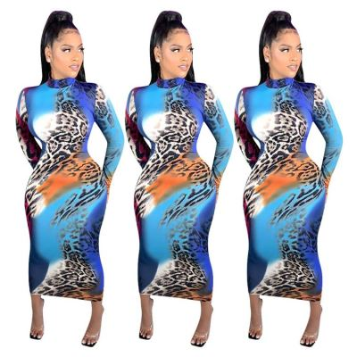 Newest Design Long Sleeves Bodycon Casual Outfits Womens Clothing Casual Dress Women Long Maxi Dresses