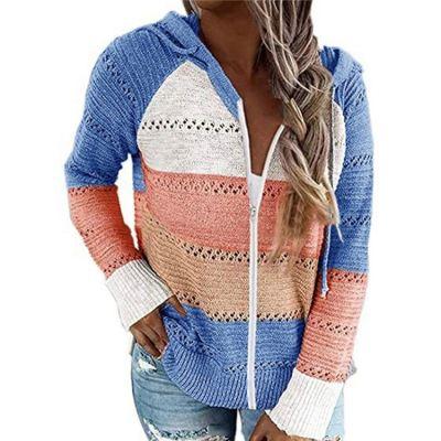 Best Seller Newest Design Knit Sweaters Knitted Winter  Women Long Sleeve Shirt