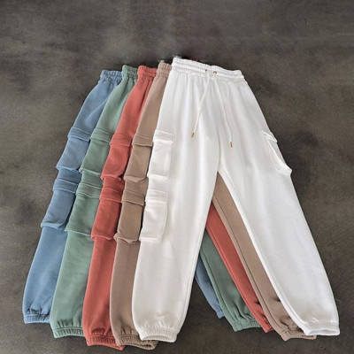 Best Seller Solid Pockets Design Pants Women Cargo Pants Ladies Women'S Trousers Lady Cargo Winter Pants For Women Ladies