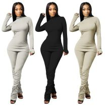 Best Sellers New Stacked Pants Set Female Clothes Casual Womens 2 Piece Set Two Piece Sets Women Clothing