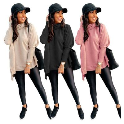New Style Woman Tops Fashionable Clothing Casual Fashion New Knit Sweaters Turtleneck Knitted Sweater Cardigan