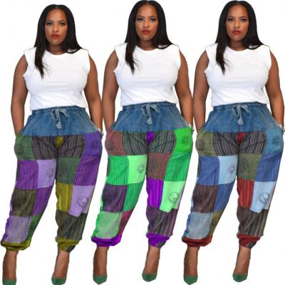 High Quality Patchwork Cool Casual Clothes New Womens Clothing Women Bottoms Ladies Trousers Sweat Pants