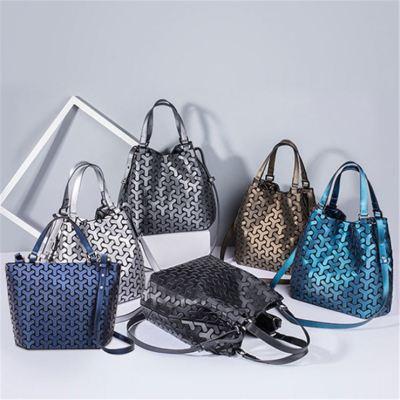 Fashion Casual Geometric Handbag High Quality Pu Leather Luxury Women Hand Bags Ladies