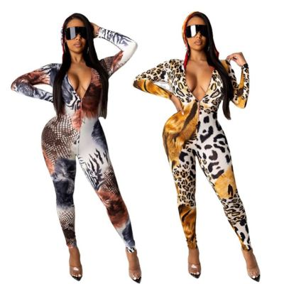 Cheap Price Leopard Hoodie Sexy Clothing Ladies Jumpsuit Women 2020 One Piece Jumpsuits  Womens Romper