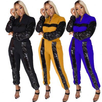 0111710 Best Seller Women Clothes Two Piece Sweat Set