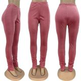 0111711 Wholesale Women Fashion Clothing 2020 Women Stacked Pants