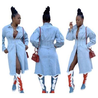 Latest Design Fashion Trend Women Clothes Casual Denim Style Long Sleeves Jean Jackets Women Coat Lady Jacket