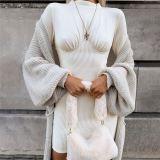 Good Quality Elegant Knit Autumn Fall Popular 2020 Woman Clothes Long Sleeves Ladies Dress Women Dresses