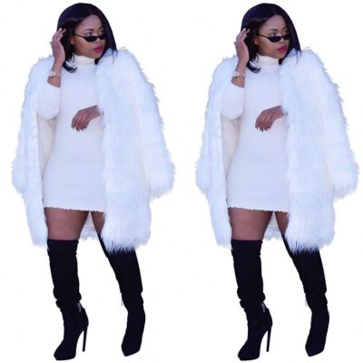 Best Seller Long Sleeves Fur Female Outfit 2020 Long Coat Winter Women Clothing Womens Jacket And Coats