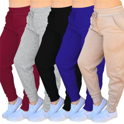 Best Design Women Fashion Clothing 2020 Casual Solid Color Drawstring Ladies Bottom Women Sweat Pants