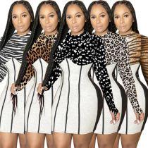 Lowest Price 2020 Fall Clothes Printed Women Fashion Clothing Dresses Women Lady Elegant Club Dresses Sexy