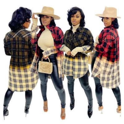 High Quality Plaid Long Sleeves New Popular Clothes Womens Clothing Fashion Sexy Casual Shirts Woman Shirt
