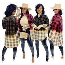 High Quality Plaid Long Sleeves New Popular Clothes Womens Clothing Fashion Sexy Casual Shirts Woman Shirt