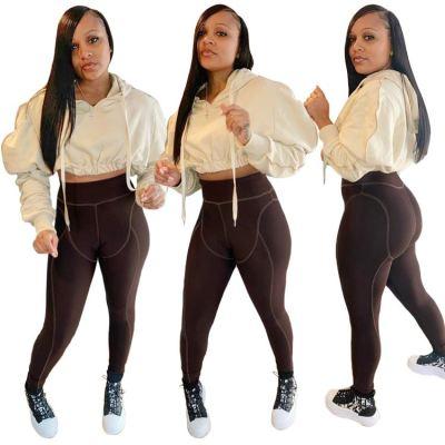 0111808 Fashion Casual Women Clothing 2020 Hoodie Set Womens Tracksuits 2 Piece Set